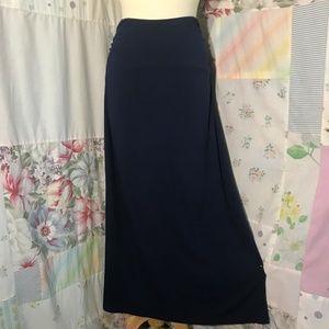 Nordstrom Caslon Navy Blue Maxi Skirt